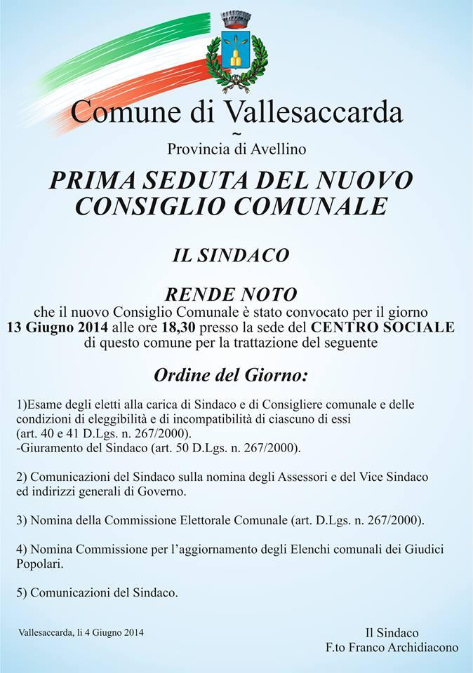 consiglio comunale del 13/06/2014