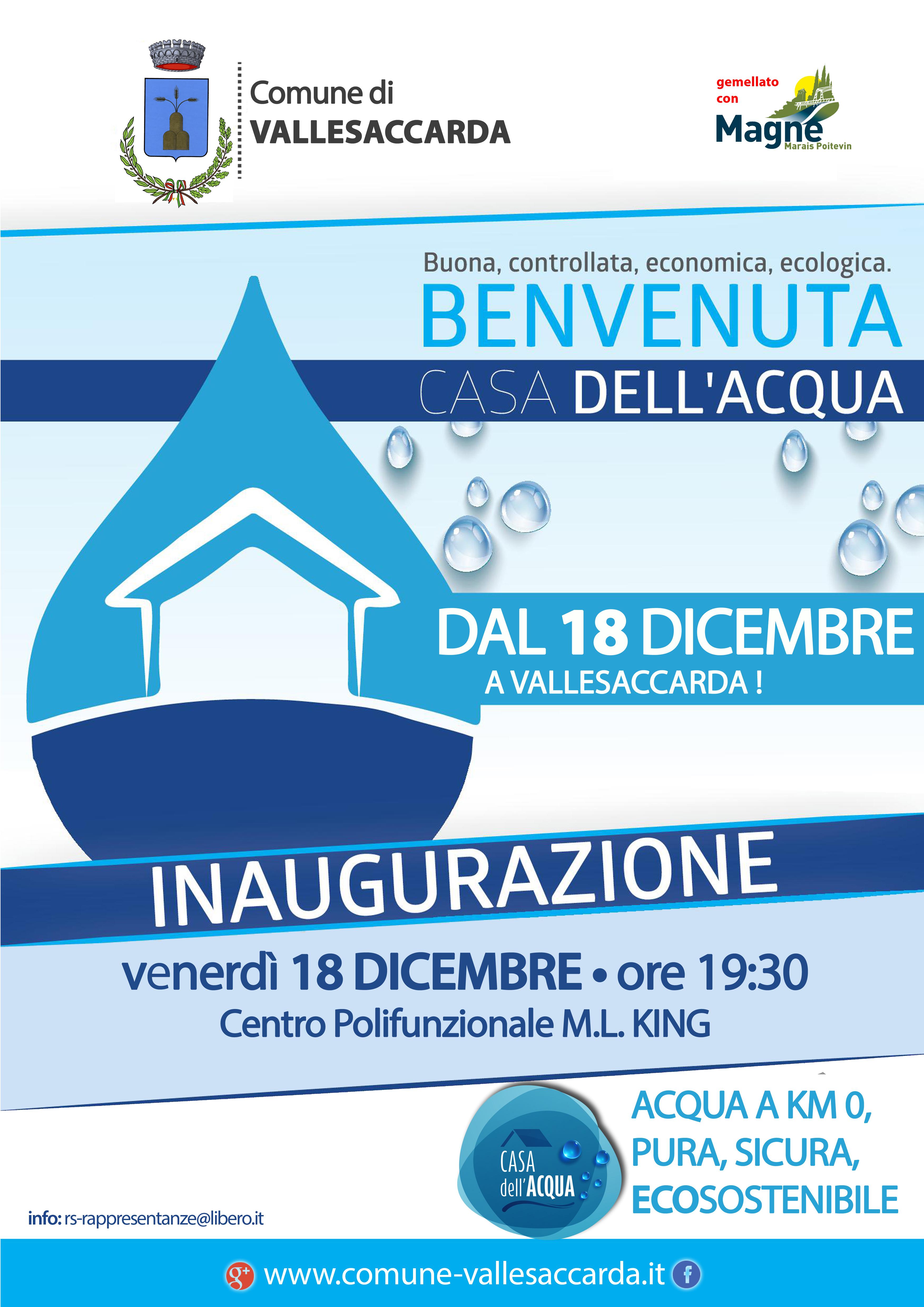 La casa dell 39 acqua comune di vallesaccarda - Giusta pressione dell acqua in casa ...