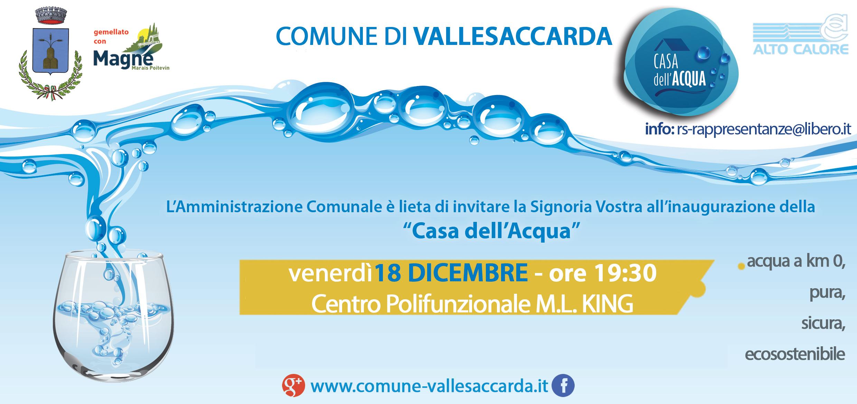Inaugurazione casa dell 39 acqua 18 dicembre 2015 comune - Depurare l acqua di casa ...